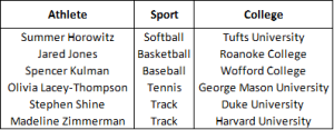 athlete chart