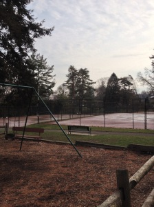 Tennis Courts where Rink Will BePhoto by Tyler Friedman