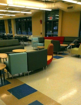 BHS' new cafeteria furniture: off-limits to those at the sub station