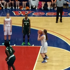 Freshman Jackie Contento takes free throws