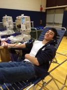 Junior Max Kaufman gives a double donation