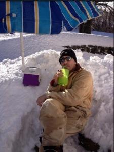 Superintendent Kaishian enjoying the winter weather