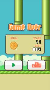Sophomore Matt Murray's Flappy Bird high score
