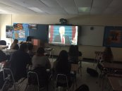 Students watch the inauguration live in AP Gov